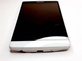 Дисплейний модуль білий  LG G3S D722, D723, D724, D725 оригінал б.у., фото 2