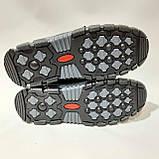 Зимові чоловічі кросівки на хутрі, черевики зі штучної шкіри Чорний, фото 8