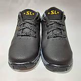 Зимові чоловічі кросівки на хутрі, черевики зі штучної шкіри Чорний, фото 2
