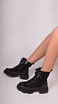 Женские ботинки черные с мехом, фото 2
