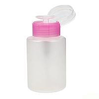 Пластиковая емкость для жидкостей 160 мл с пластиковым дозатором