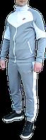Спортивный костюм Nike Heritage (найк) серый с белым