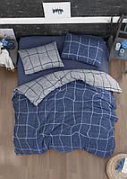 Комплект постільної білизни First Choice Flannel Adonis Denim фланель 220-200 см синє