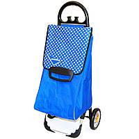 Сумка тележка на колесах, сумка тележка хозяйственная, Aurora Milano 60 (131 Blue/White point)