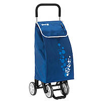Сумка тележка на колесах, сумка тележка хозяйственная, Gimi Twin 56 Blue