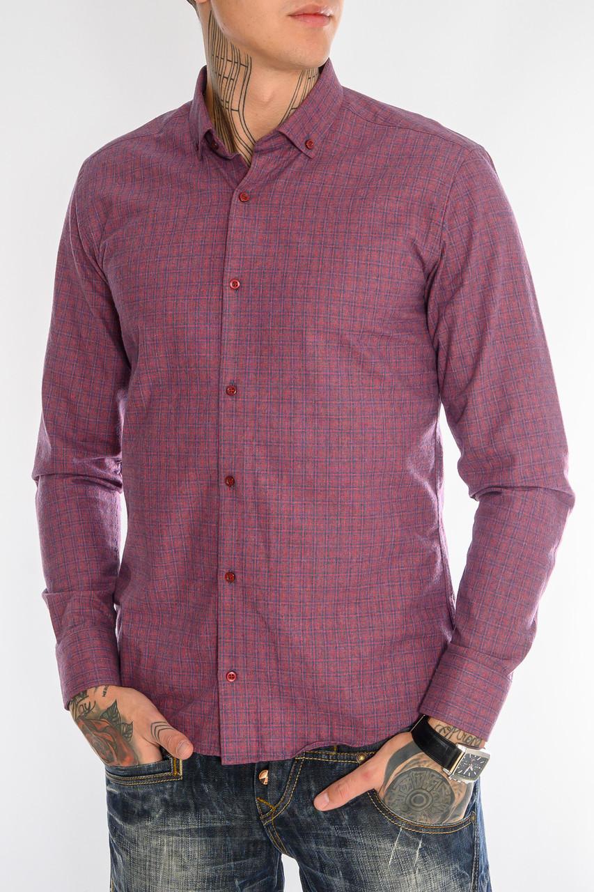 Клетчатая рубашка мужская Gelix 1276002-1 бордовая