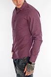 Клетчатая рубашка мужская Gelix 1276002-1 бордовая, фото 3