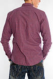 Клетчатая рубашка мужская Gelix 1276002-1 бордовая, фото 2