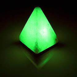 Соляна лампа SALTKEY PYRAMID Green