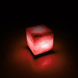 Соляна лампа SALTKEY CUBE Red