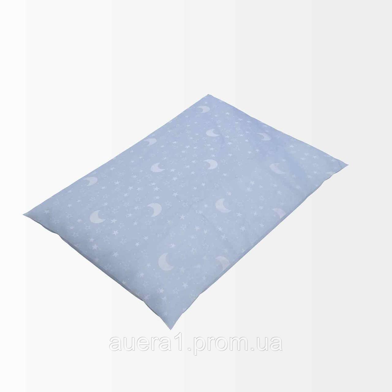 Напірник тік з кантом 52 блакитний 40х60(р) 100% блискавка