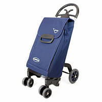 Сумка тележка на колесах, сумка тележка хозяйственная, Aurora Forza 6_68 Blue