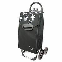 Сумка тележка на колесах, сумка тележка хозяйственная, Aurora Avanti 4 Basic 50 Black/Grey Flower