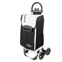 Сумка тележка на колесах, сумка тележка хозяйственная, Aurora Avanti 4_70 Black/White