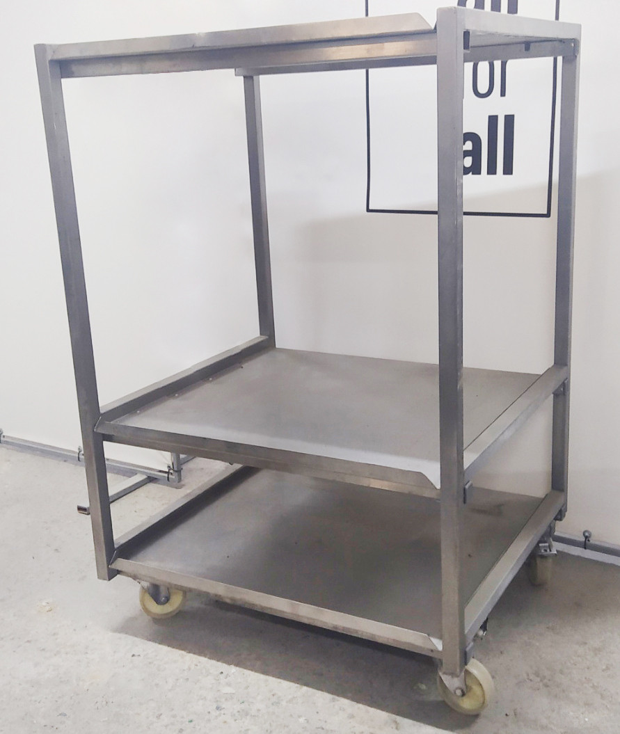 Візок промисловий кухонний з дотатковими поличками