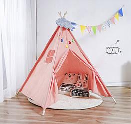 Детская палатка Tipi Вигвам 110 см (Розовый)
