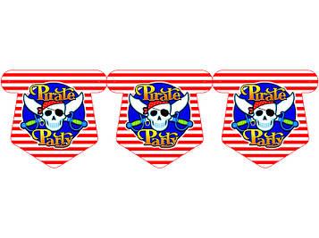 """""""Пираты"""" - Флажки, 12 флажков."""