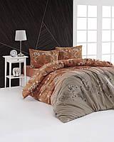 Комплект постільної білизни First Choice Flannel Burrell Caramel фланель 220-200 см бежеве