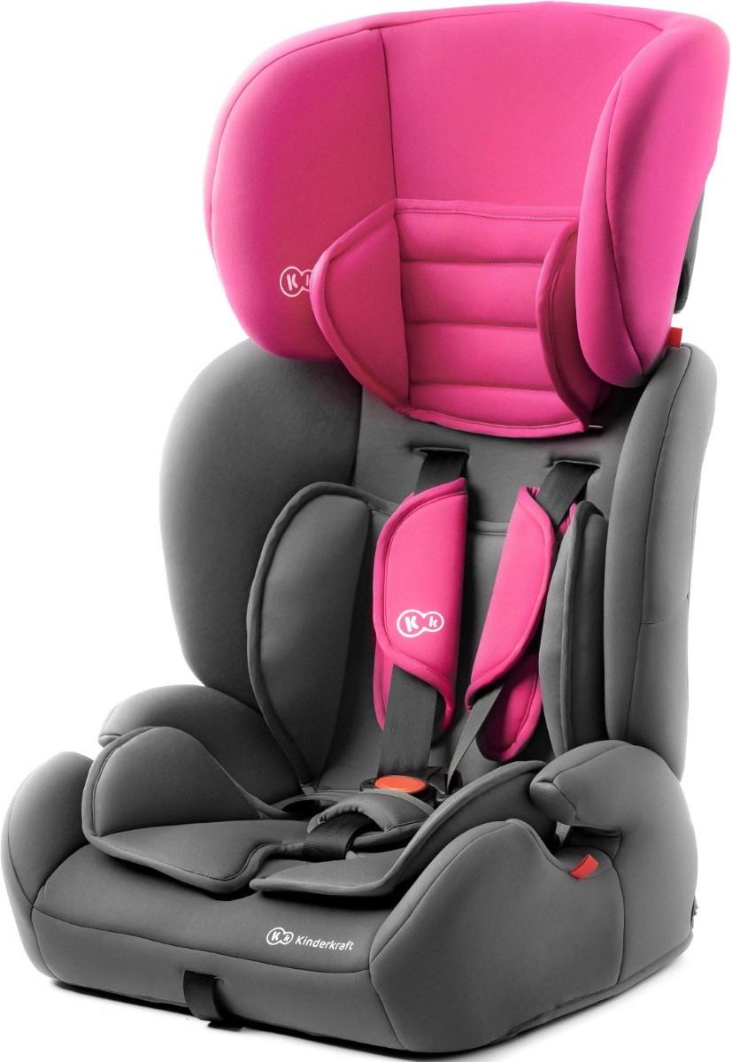 Детское автокресло с анатомической подушкой Kinderkraft concept 9-36 кг pink