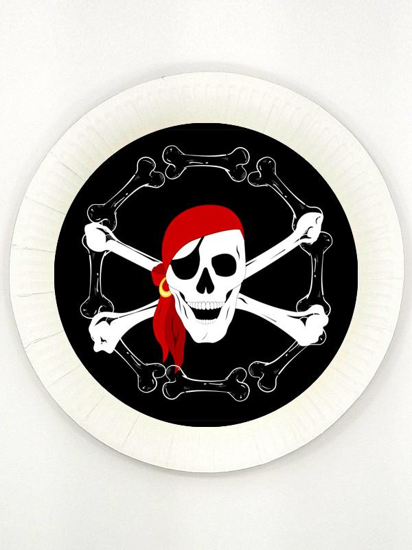 """Пираты"" - Тарелочки Черная метка 18 см."