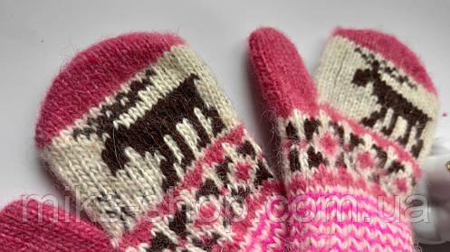 Дитячі варежки рукавички 100 % шерсть, фото 2