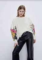Красивая женская толстовка свитшот от бренда ZARA