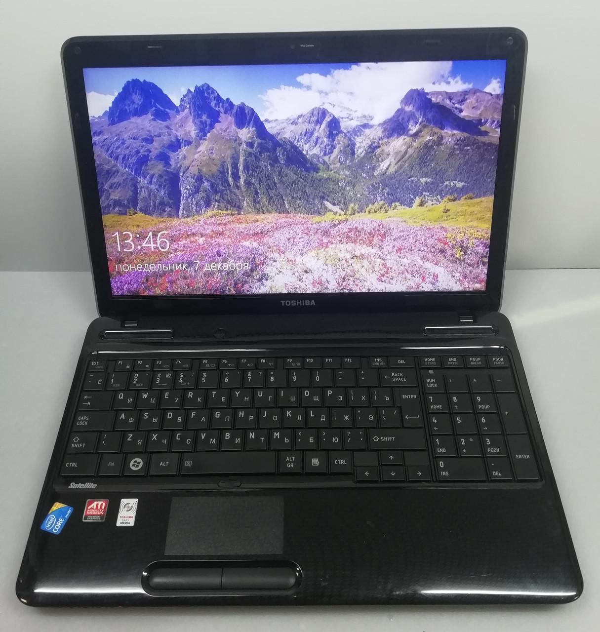 """Ноутбук мощный Toshiba на процессоре Intel Core i3 с 15"""" экраном"""