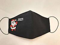 Маска защитная с вышивкой Новый год 2021 не медицинская