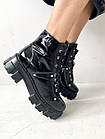 Ботинки женские зимние лаковые Vladeks 1377 черные, фото 5