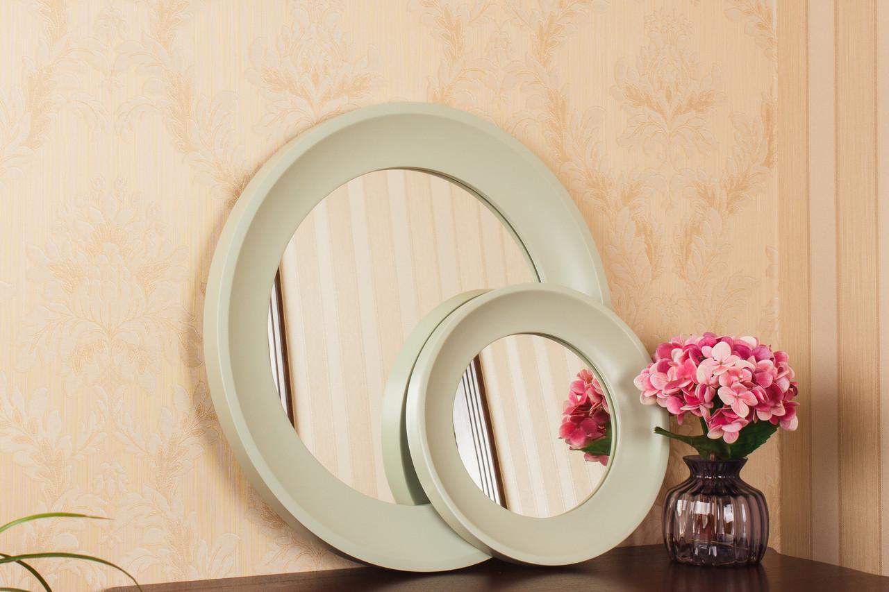 Зеркало в круглой широкой раме/ Диаметр 660 мм/ Зеркало в интерьер/ Код MD 3.1/4