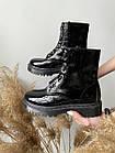 Женские ботинки кожаные весна/осень Yuves 128 лаковые, фото 7