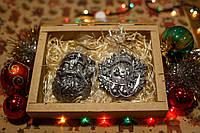 """Подарки детям на новый год - Шоколадный подарочный набор """"Дед Мороз и снежинка"""". Оригинальный подарок."""