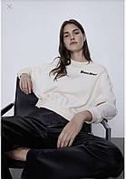 Стильный тонкий женский свитшот толстовка от бренда ZARA