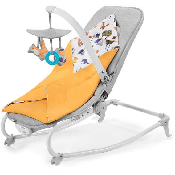 Шезлонг качалка для ребенка Kinderkraft Felio  forest yellow