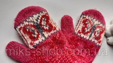 Дитячі варежки рукавички 100 % шерсть, фото 3