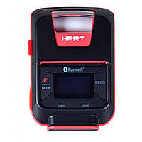 Принтер чеків HPRT HM-E200 мобільний, Bluetooth, USB, червоний+чорний (14657), фото 1