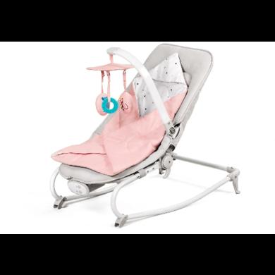 Шезлонг качалка для ребенка Kinderkraft Felio pink