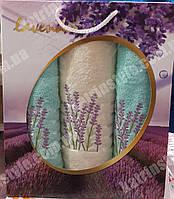 """Набор махровых полотенец """"Лаванда"""" в подарочной упаковке(Турция)"""