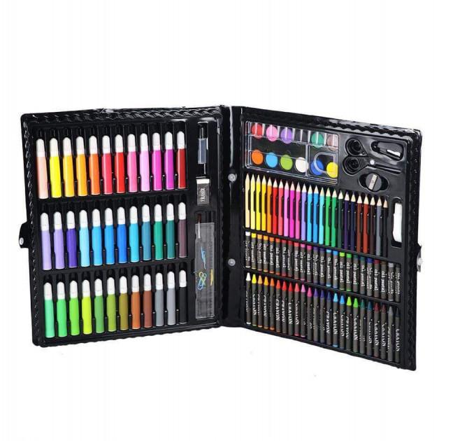 Набор для рисования ART SET Чемодан творчества 150 предметов (Чёрный)