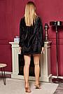 Велюровый костюм для дома с шортами женский чёрный, фото 5