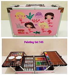 Набор для детского творчества и рисования Painting Set 145 предметов Pink