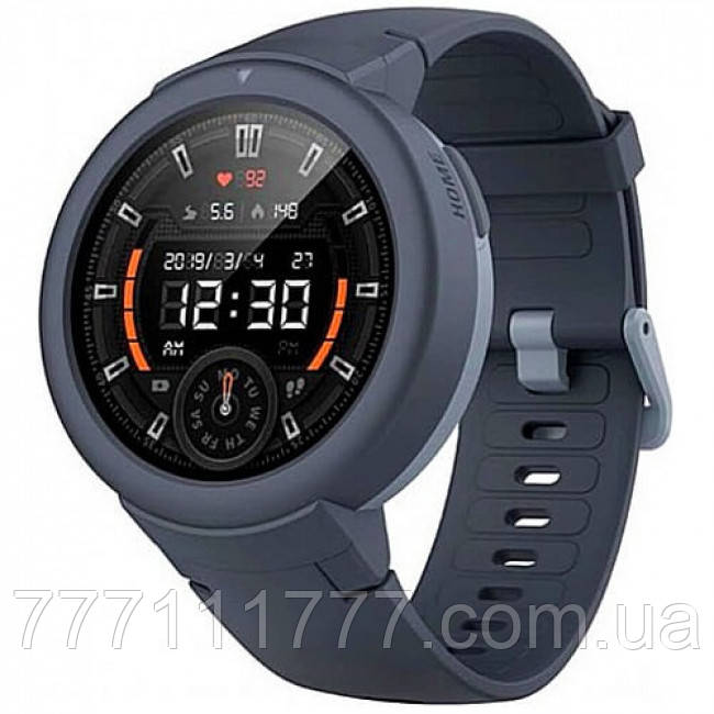 Смарт часы водостойкие с беспроводной зарядкой Smart Watch Amazfit Verge Lite Gray UA UCRF