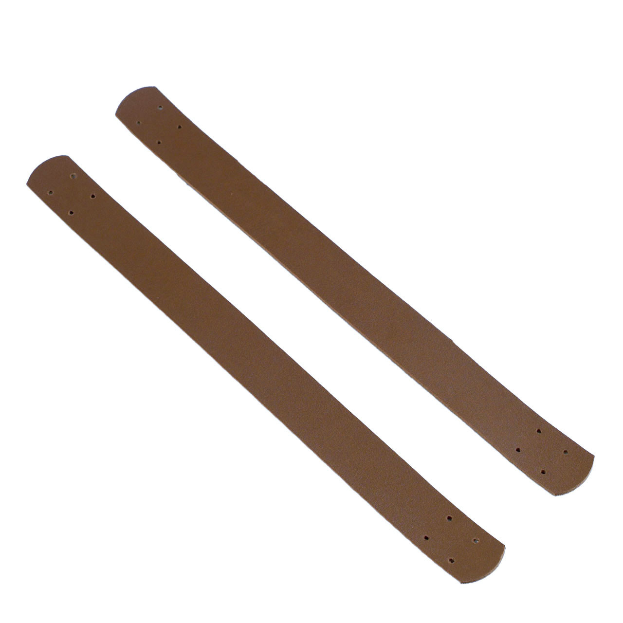 Комплект пришивных ручек для корзин экокожа, Браун 29х2,7 см