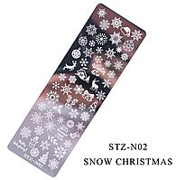 Пластина для стемпинга STZ-N02, фото 1