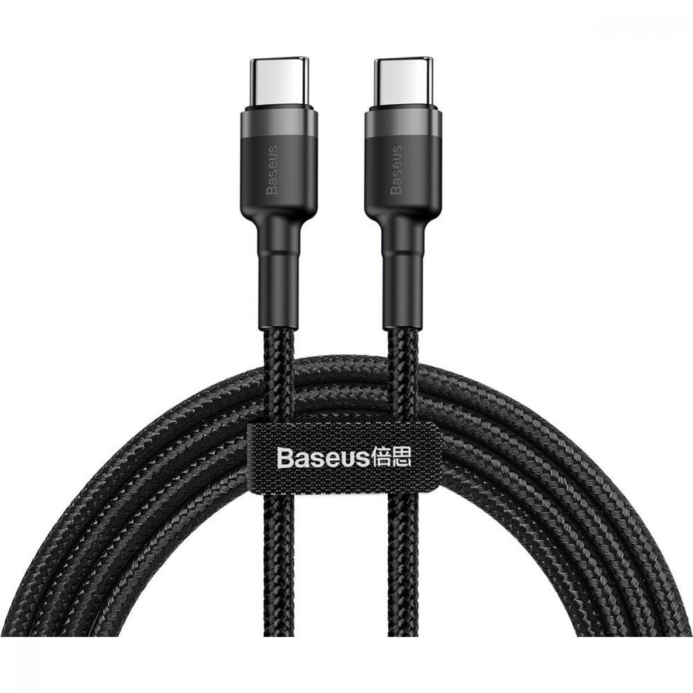 Кабель USB Type-C 1.0 m Baseus Cafule (CATKLF-GG1) сіро-чорний (блістер)