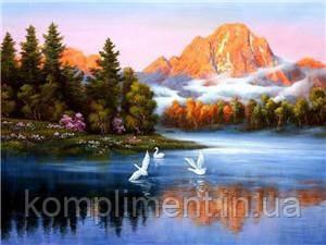 """Картина по номерам """"Озеро"""" 40*50 см, краски - акрил"""