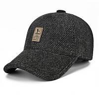 Стильная зимняя кепка с ушами Sports SGS черного цвета