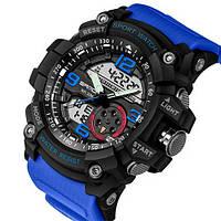 Часы Sanda 759 Blue-Black, Спортивные, Женские-Мужские, Каучуковый ремешок