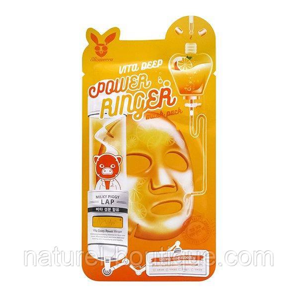 Маска тканевая для лица Elizavecca Power Ringer Vita  Deep с витаминным комплексом