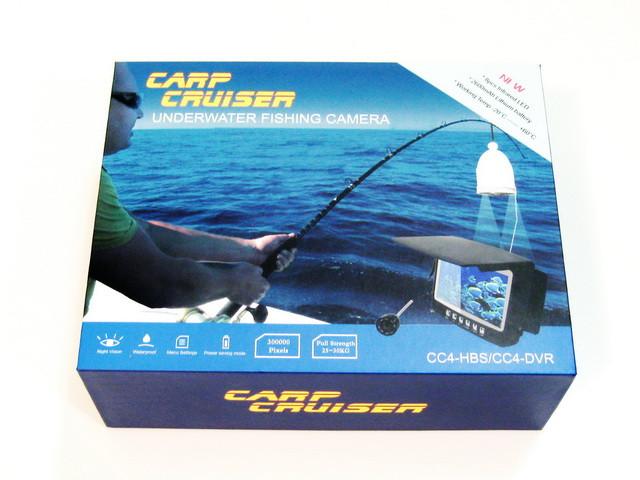 """Подводная видеокамера CARP CRUISER СC4-HBS HD для зимней рыбалки 4.3"""" монитор, шнур15 м, подсветка 8 ик диодов"""